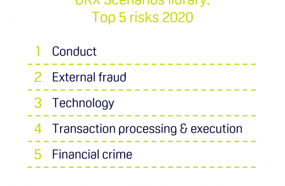 Top 5 operational risks in the ORX Scenarios library chart