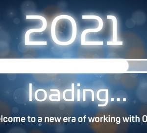 Test on blue background with a loading bar - 2021 at ORX